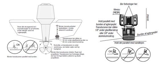 garmin transducer mounting instructions